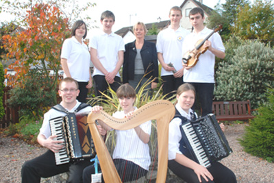 Tiree pupils attend the 2009 Mòd in Oban