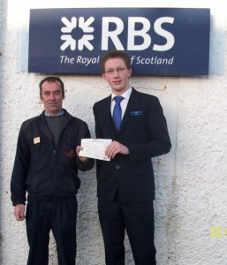 Accepting a cheque from the bank