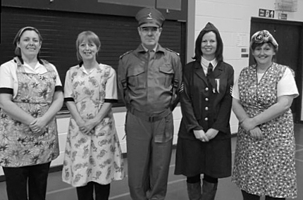 Canteen Ladies with Mr. Monaghan and Miss Paterson