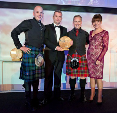 Stewart MacLennan, Sean Duffy, Daniel Gillespie and Lorraine Kelly